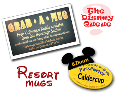 Disney's Refillable Resort Mugs