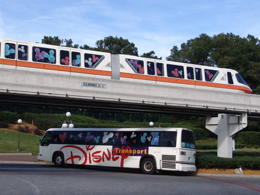 Disney's monorails and buses