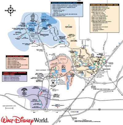 Walt Disney World's Transportation Map