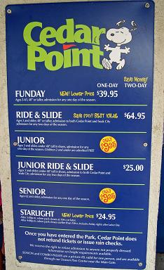 SANDUSKY, Ohio -- Cedar Point has raised its ticket prices for the season, but there are ways to save. The cost of a regular adult ticket at the gate is now $72 -- up $5 from last season. You.
